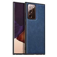 Funda Lujo Cuero Carcasa para Samsung Galaxy Note 20 Ultra 5G Azul