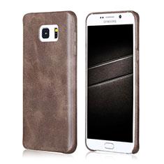 Funda Lujo Cuero Carcasa para Samsung Galaxy Note 5 N9200 N920 N920F Marron