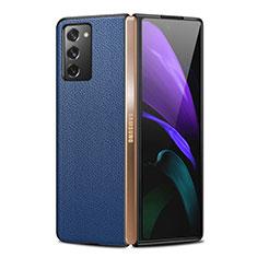 Funda Lujo Cuero Carcasa para Samsung Galaxy Z Fold2 5G Azul