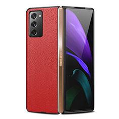 Funda Lujo Cuero Carcasa para Samsung Galaxy Z Fold2 5G Rojo