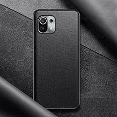 Funda Lujo Cuero Carcasa para Xiaomi Mi 11 5G Negro
