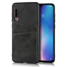 Funda Lujo Cuero Carcasa para Xiaomi Mi 9 Negro