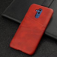 Funda Lujo Cuero Carcasa R01 para Huawei Mate 20 Lite Rojo
