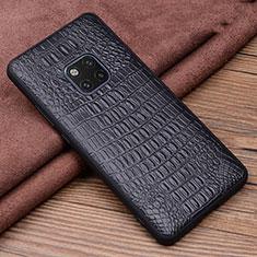 Funda Lujo Cuero Carcasa R01 para Huawei Mate 20 Pro Negro