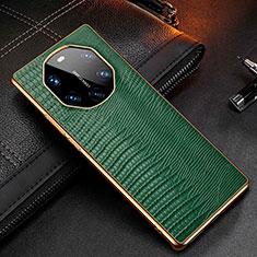 Funda Lujo Cuero Carcasa R01 para Huawei Mate 40 RS Verde