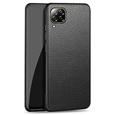 Funda Lujo Cuero Carcasa R01 para Huawei P40 Lite Negro