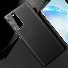 Funda Lujo Cuero Carcasa R01 para Samsung Galaxy S20 5G Negro