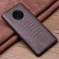 Funda Lujo Cuero Carcasa R01 para Xiaomi Redmi K30 Pro Zoom Marron