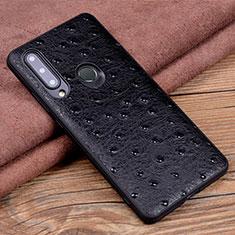Funda Lujo Cuero Carcasa R02 para Huawei Honor 20 Lite Negro