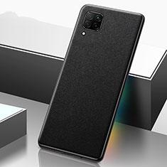 Funda Lujo Cuero Carcasa R02 para Huawei P40 Lite Negro