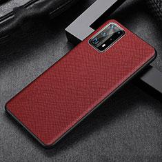 Funda Lujo Cuero Carcasa R02 para Huawei P40 Pro+ Plus Rojo