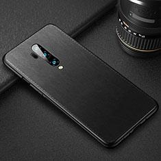 Funda Lujo Cuero Carcasa R02 para OnePlus 7T Pro Negro