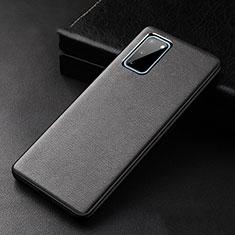 Funda Lujo Cuero Carcasa R02 para Samsung Galaxy S20 5G Negro