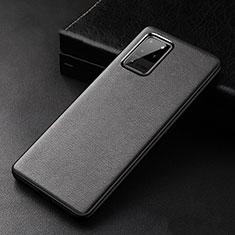 Funda Lujo Cuero Carcasa R02 para Samsung Galaxy S20 Ultra Negro