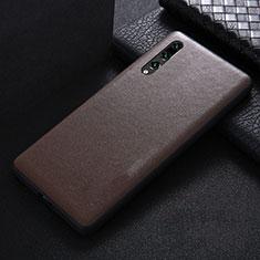Funda Lujo Cuero Carcasa R03 para Huawei P20 Pro Marron