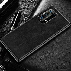 Funda Lujo Cuero Carcasa R03 para Huawei P40 Pro+ Plus Negro