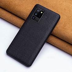 Funda Lujo Cuero Carcasa R03 para Samsung Galaxy S20 Ultra Negro