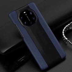 Funda Lujo Cuero Carcasa R04 para Huawei Mate 40 RS Azul