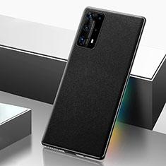Funda Lujo Cuero Carcasa R04 para Huawei P40 Pro+ Plus Negro