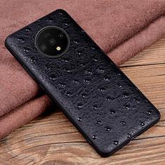 Funda Lujo Cuero Carcasa R04 para OnePlus 7T Negro