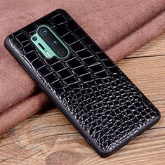 Funda Lujo Cuero Carcasa R04 para OnePlus 8 Pro Negro