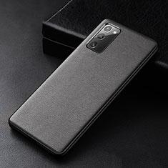Funda Lujo Cuero Carcasa R04 para Samsung Galaxy Note 20 5G Negro