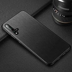 Funda Lujo Cuero Carcasa R05 para Huawei Honor 20 Negro