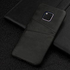 Funda Lujo Cuero Carcasa R05 para Huawei Mate 20 Pro Negro
