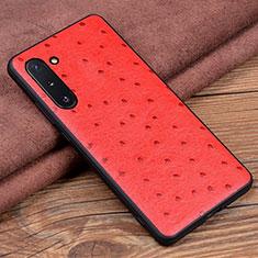 Funda Lujo Cuero Carcasa R05 para Samsung Galaxy Note 10 5G Rojo