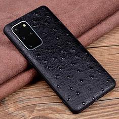 Funda Lujo Cuero Carcasa R05 para Samsung Galaxy S20 Plus 5G Negro