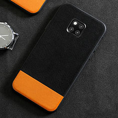 Funda Lujo Cuero Carcasa R06 para Huawei Mate 20 Pro Negro