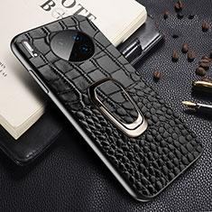 Funda Lujo Cuero Carcasa R06 para Huawei Mate 30E Pro 5G Negro