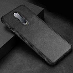 Funda Lujo Cuero Carcasa R06 para OnePlus 8 Negro