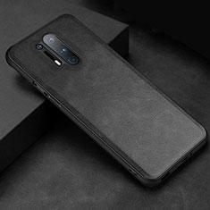 Funda Lujo Cuero Carcasa R06 para OnePlus 8 Pro Negro