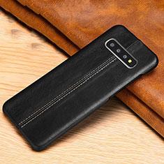Funda Lujo Cuero Carcasa R06 para Samsung Galaxy S10 Negro