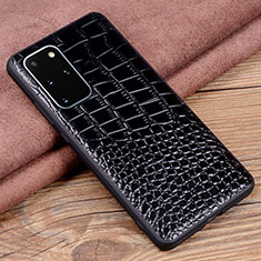 Funda Lujo Cuero Carcasa R06 para Samsung Galaxy S20 Plus 5G Negro