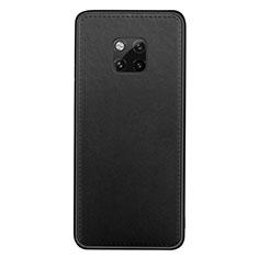 Funda Lujo Cuero Carcasa R07 para Huawei Mate 20 Pro Negro