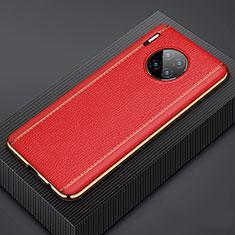 Funda Lujo Cuero Carcasa R07 para Huawei Mate 30E Pro 5G Rojo