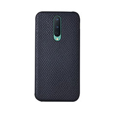 Funda Lujo Cuero Carcasa R07 para OnePlus 8 Negro