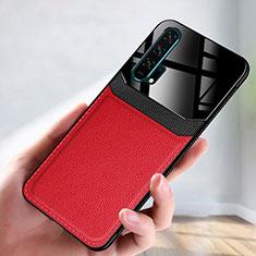 Funda Lujo Cuero Carcasa R08 para Huawei Honor 20 Pro Rojo
