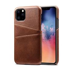 Funda Lujo Cuero Carcasa R10 para Apple iPhone 11 Pro Marron