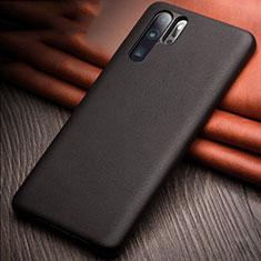 Funda Lujo Cuero Carcasa R11 para Huawei P30 Pro Negro