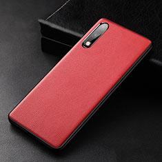 Funda Lujo Cuero Carcasa S01 para Huawei Enjoy 10 Rojo