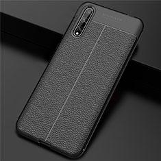 Funda Lujo Cuero Carcasa S01 para Huawei Enjoy 10S Negro