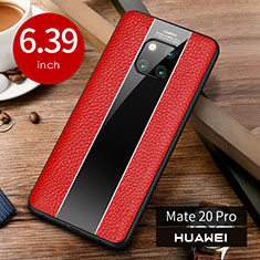 Funda Lujo Cuero Carcasa S01 para Huawei Mate 20 Pro Rojo