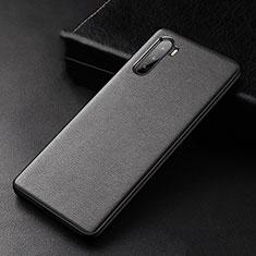 Funda Lujo Cuero Carcasa S01 para Huawei Mate 40 Lite 5G Negro