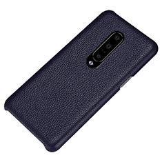 Funda Lujo Cuero Carcasa S01 para OnePlus 7 Pro Azul