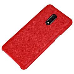 Funda Lujo Cuero Carcasa S01 para OnePlus 7 Rojo