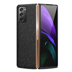 Funda Lujo Cuero Carcasa S01 para Samsung Galaxy Z Fold2 5G Negro