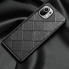 Funda Lujo Cuero Carcasa S02 para Xiaomi Mi 11 5G Negro
